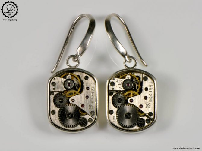 Decimononic - Beta earrings | Sterling silver Steampunk earrings