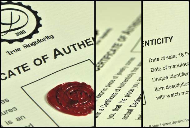 Decimononic - Certificate of Authenticity
