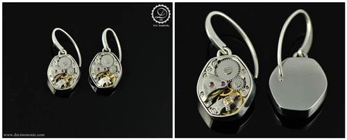 Gamma Earrings | Steampunk earrings by Decimononi</a srcset=