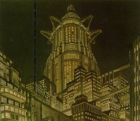 Metropolis - Tower of Babel - oil on cardboard - Erich Kettelhut