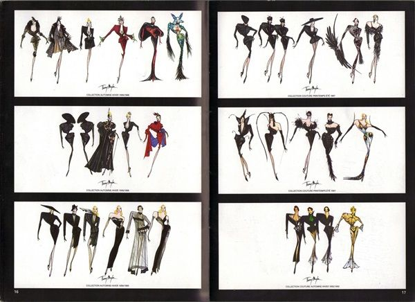 Thierry Mugler sketch book