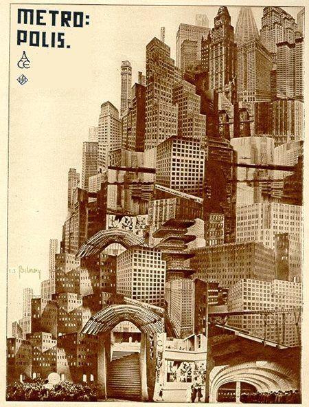 Metropolis poster by Boris Konstantinovitch Bilinsky